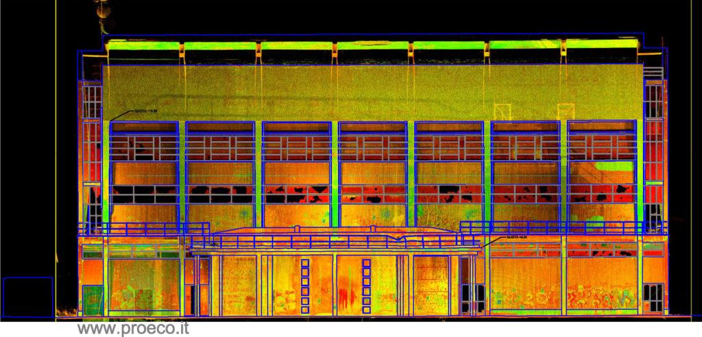 rilievo laser scanner 3d nel settore industriale e redazione di piante e prospetti cad proeco