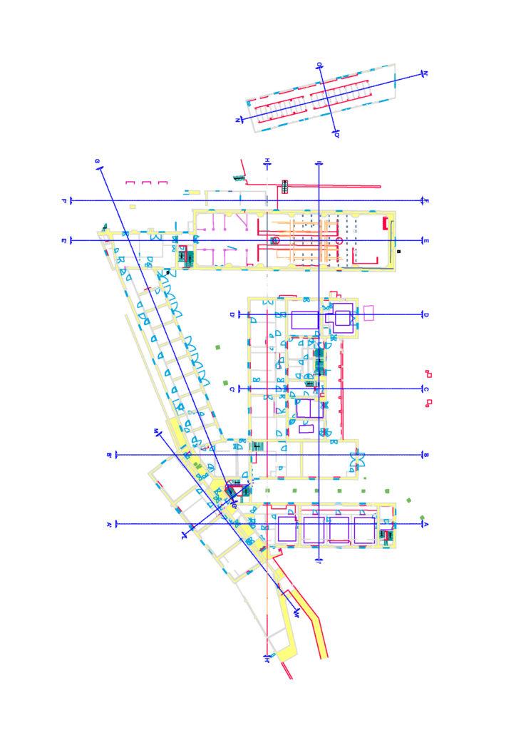 rilievo laser scanner 3d e restituzione di piante, sezioni, prospetti cad proeco