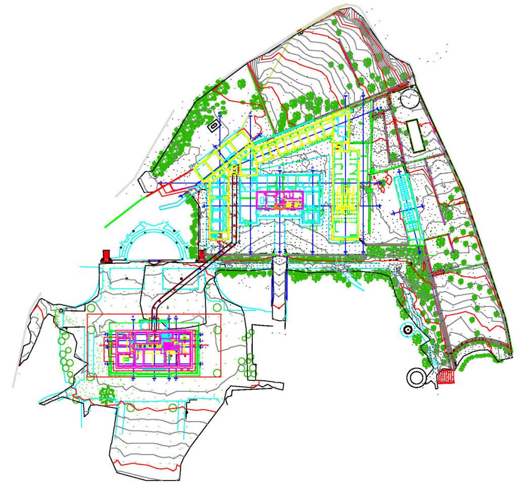 piano quotato villa e giardino da rilievo laser scanner e rilievo gps proeco