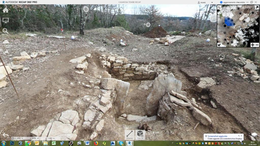 rilievo laser scanner 3d nel settoore archeologico; esempio di navigazione virtuale 3d