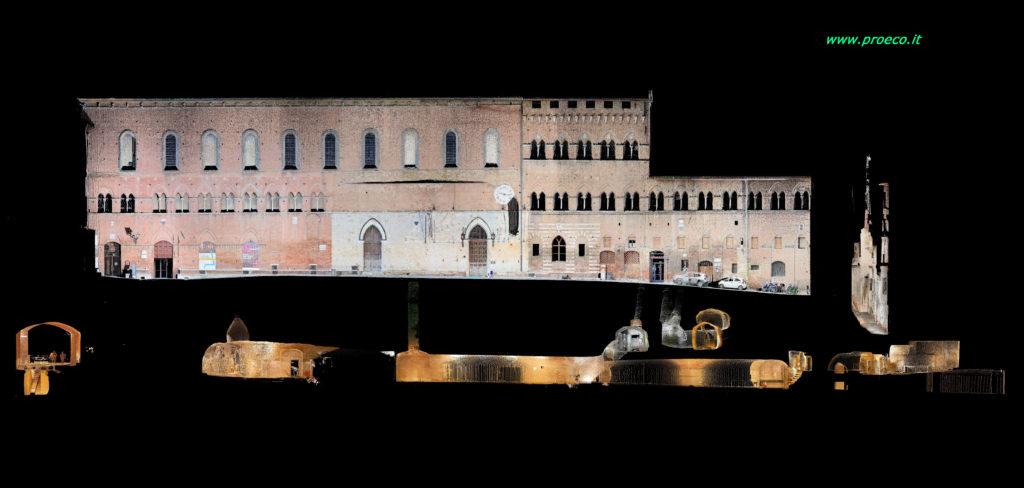 rilievo laser scanner 3d del complesso museale del Santa Maria della Scala - Siena
