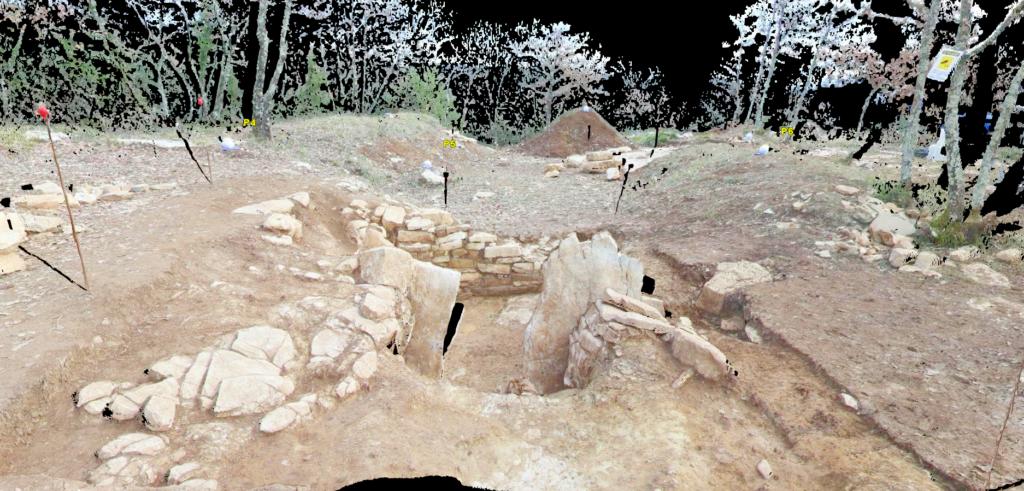 rilievo laser scanner nel settore archeologico - nuvola di punti in colori reali